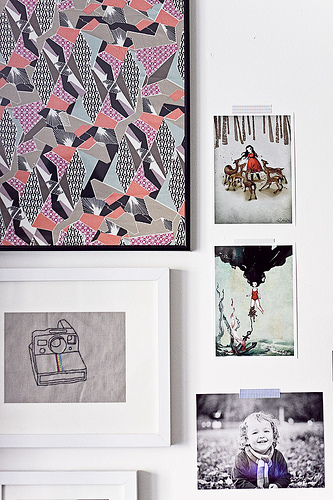 picture wall & washi tape